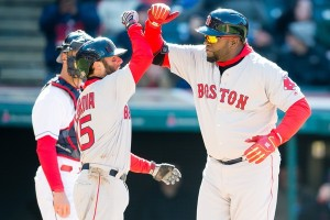 Papi Pedroia high five
